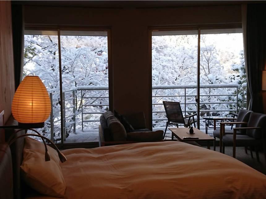 お部屋から見える雪景色