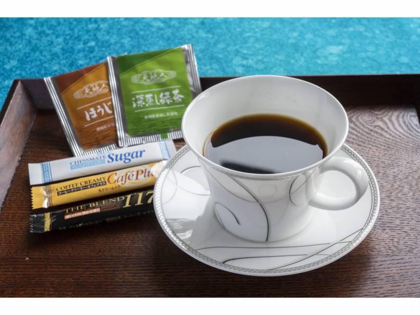 お部屋でゆっくりコーヒータイムをお過ごしください。